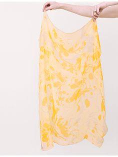Ilana Kohn Yellow Marble Print Scarf « Pour Porter