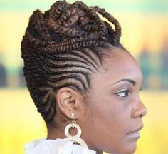 Super Braids Hairstyles For Black Women Cornrows Updo Protective Styles Ideas Super tresses coiffure Black Braided Updo, Braided Hairstyles For Black Women, Braided Hairstyles Updo, African Braids Hairstyles, Braids For Black Hair, Black Hairstyles, Cornrows Updo, Loc Updo, Simple Hairstyles