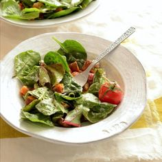 This is a Colorful Salad with a Creamy Hemp Seed Dressing. It's vegan, gluten free, and healthy.