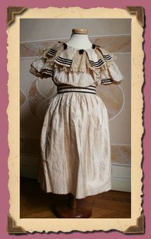 Clothes Antichi- Collection 1891-1899...Dress by child taffeta. Once bright pink, is now very faded. The original color and 'still visible in some folds..1898.