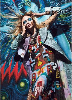 KAPOW! -  Photographed by Mario Sorrenti; W Magazine September 2011.