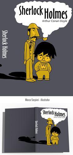"""""""Sherlock Holmes"""" Conan Doyle Serpieri, Arthur Conan Doyle, Sherlock Holmes, Book Covers, Illustration, Books, Movie Posters, Movies, Livros"""
