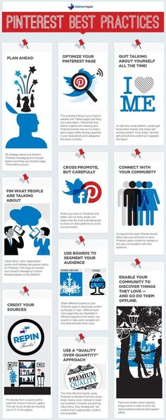 SOCIAL MEDIA -        Best Practices On #Pinterest #Infographic #SocialMedia.