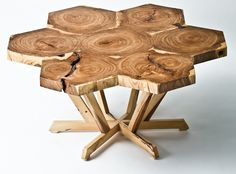 Friend of the Forest, Sean Springer designed this table for Forest Family Kids from reclamined elm and pecan.