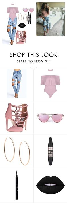 """De'arra Taylor"" by xhildish ❤ liked on Polyvore featuring Boohoo, Steve Madden, Michael Kors, Maybelline, Givenchy and Lime Crime"
