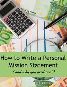 write my personal vision statement