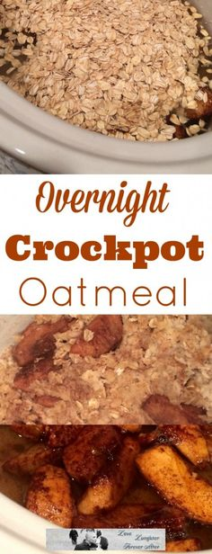 Super easy to make Overnight Crockpot Oatmeal Recipe