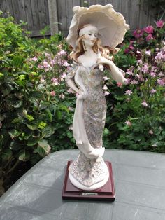 Large Guiseppe Armani 1987 Lady with Umbrella 949 Capodimonte Italy Figurine #Figurines