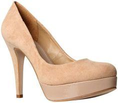 Carvela Amelia Suede Court Shoes, Nude