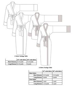 $9.50 PDF Pattern/Instructions for sewing Kimono Sewing Pattern PDF (french seams option) by AtelierJoy