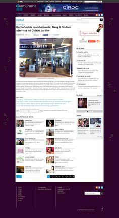 Título: Reconhecida mundialmente, Bang & Olufsen aterrisa no Cidade Jardim. Veículo: Glamurama. Data: 02/12/2014. Cliente: Disac.