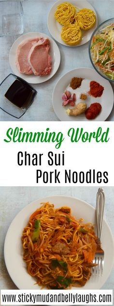 A delicious syn free Slimming World recipe - Char Sui Pork Noodles. astuce recette minceur girl world world recipes world snacks Slimming World Noodles, Slimming World Pork Recipes, Slimming World Lasagne, Slimming World Fakeaway, Asian Recipes, Healthy Recipes, Healthy Dinners, Healthy Food, Snack Recipes