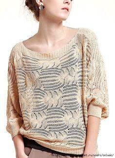 Female openwork knitting dzhemper/4683827_20130101_203013 (447x612, 232Kb)