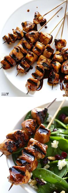 Easy Balsamic Chicken Skewers