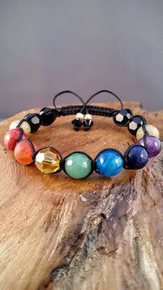 Chakra edelsteen armband Rainbow armband Reiki door EvelinesGarden