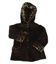 Osh Kosh Girl's Faux Fur Hooded Coat
