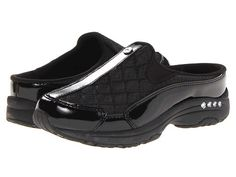 Easy Spirit Traveltime Black Patent Leather/Silver - Zappos.com Free Shipping BOTH Ways