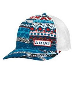 Ariat M F Western Products Mens Cap w//Serape Steer Head OS Brown