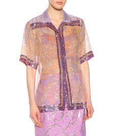 Sequinned Silk Organza Shirt - Dries Van Noten | mytheresa.com