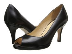 Cole Haan Air Carma Open Toe Pump Black Leather - 6pm.com
