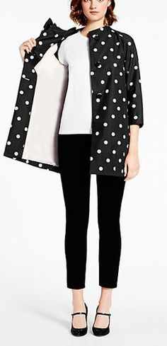 Polka dot coat by kate spade new york http://www.revolvechic.com/