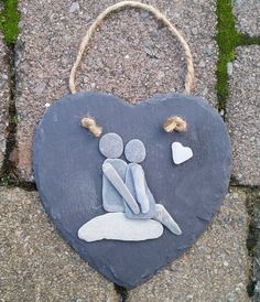Valentines Gifts, Anniversary Gifts Pebble Art Pebble Pictures