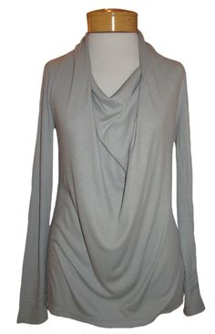 Isda & Co. Rib Cowl Neck  Our new favorite top! Absolutely stunning pearly gray cowl neck is romantic AND modern. Such a soft, feminine neckline looks amazing on anyone, and is so flattering on the body! Long, elegant sleeves and the most comfortable, sexy rayon blend makes this beauty a go-to holiday piece. Dress up a holiday skirt, or a sexy pair of jeans. This top is a beauty! http://www.melange4women.com/iscoribcone.html