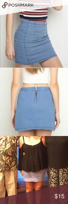 Brandy Melville Jean Skirt Brandy Melville Jean Skirt.  Rarely worn and in good condition. Brandy Melville Skirts