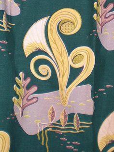 Retro Atomic Vintage Barkcloth Drapery Panels by MainlyRetro, $65.00