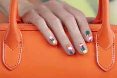 Jin Soon Choi x Tila March abstract nail art