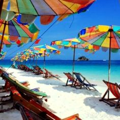 """Parasols on a Tropic Isle- II"" by Katie McRostie"