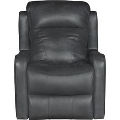 Steamboat Charcoal Grey Leather Match Power Rocker Recliner   Caprice
