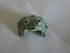 Miniature Tiny Green Frog Vintage Shadowbox Display by VintageSouthernPicks on Etsy