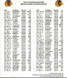 image relating to Blackhawks Schedule Printable named blackhawks routine giveaways