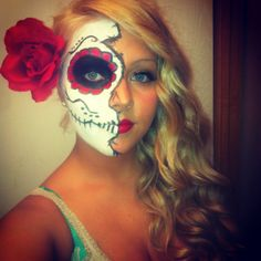 My sugar skull make up for Halloween