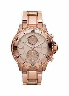 Michael Kors MK5620 Women's Rose Gold Tone Stainless Steel Bracelet Chronograph Watch