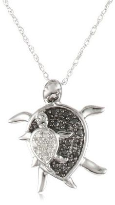 10k White Gold Mother and Baby Turtle Diamond « Blast Gifts