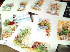 Sandy Allnock ~ Memento markers, Artistic Impression stamps & waterbrush. Love the look! ♥