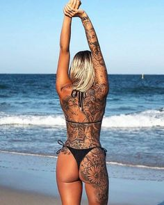 Today, millions of people have tattoos. From different cultures to pop culture enthusiasts, many people have one or several tattoos on their bodies. While a lot of other people have shunned tattoos… Model Tattoos, Hot Tattoos, Body Art Tattoos, Girl Tattoos, Tatoos, Fitness Tattoos, Back Tattoos, Small Tattoos, Hot Tattoo Girls
