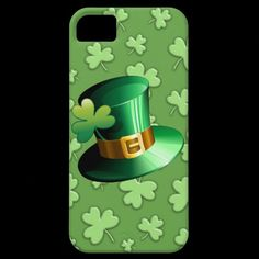 St #Patrick #Paddy #Hat and #Shamrock #iPhone 5 #Case from Zazzle.com     http://www.zazzle.com/st_patrick_paddy_hat_and_shamrock_iphone_5_case-179366638423101062