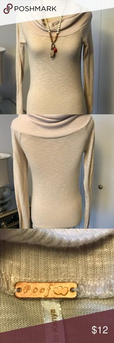 Poof top Cute Poof shawl sweater. EUC. Soft and lightweight. Poof! Sweaters Cowl & Turtlenecks