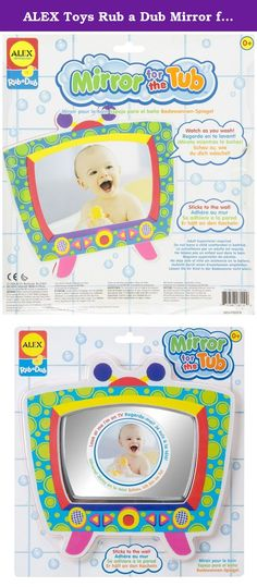 """ALEX Toys Rub a Dub Mirror for the Tub. When wet, this 10"""" mirror sticks right to the tub wall so kids can watch as they wash! The adorable TV shape is perfect for your little soap star!."""