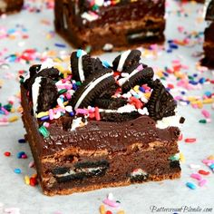 Double Trouble Cookies and Cream Brownies