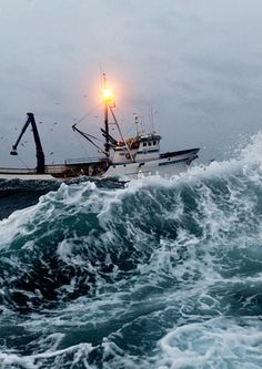 The Bering Sea, getting feisty!  Hang on North Western