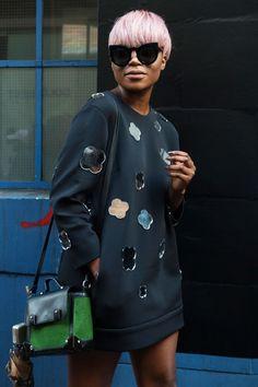 At London Fashion Week. Photo: Imaxtree