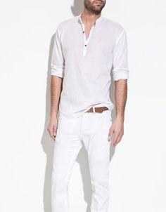 Linen shirt / voile / Zara /