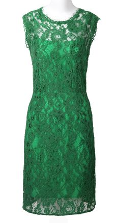 emerald green lace dress <3