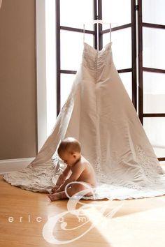 Wedding Dress and Baby