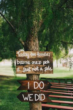 Sweet wedding sign.