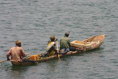 Pirogues - Bijagos Archipelago. Guinea Bissau